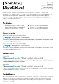 curriculum mixto descargar word